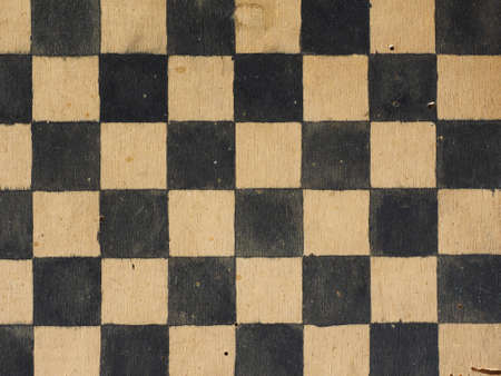 game board: Vintage wooden game board for playing Draughts or Checkers Stock Photo
