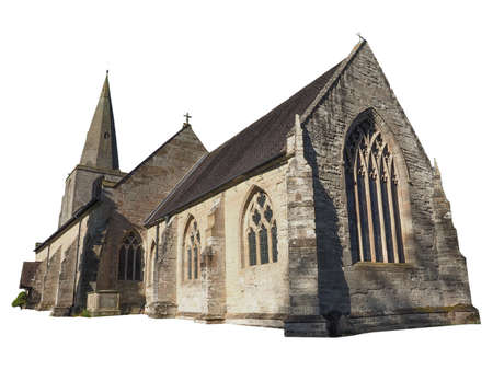 arden: Parish Church of St Mary Magdalene in Tanworth in Arden, UK isolated over white background