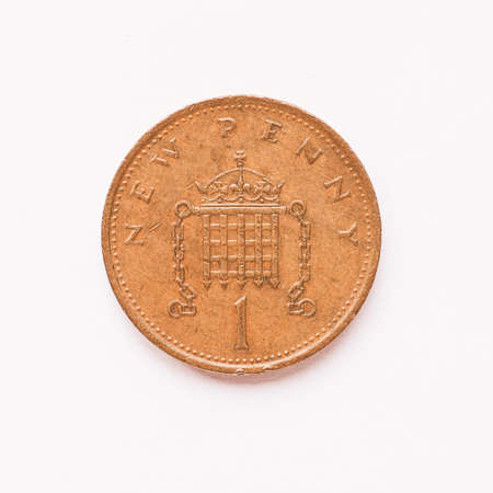 pence: Currency of the United Kingdom 1 penny coin vintage