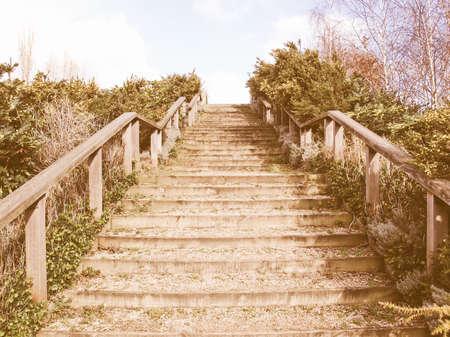 stairway: Stairway to heaven as a metaphoric symbol of elevation vintage
