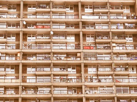 sixties: Trellick Tower iconic sixties new brutalist architecture vintage