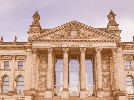 houses of parliament: Reichstag German houses of parliament in Berlin Germany vintage