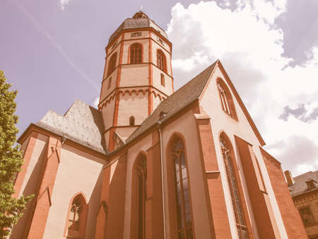 st german: St Stephan church in Mainz in Germany vintage