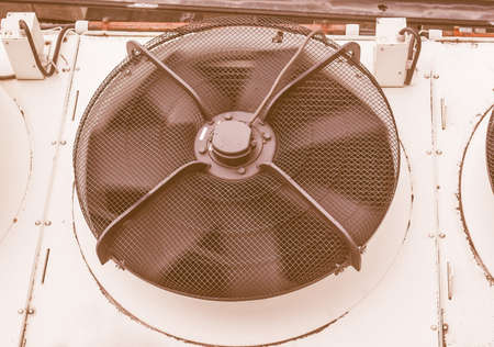 splitter: An heating ventilation and air conditioning device vintage Stock Photo