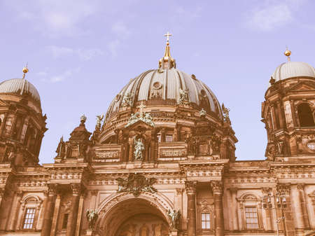 dom: Berliner Dom cathedral church in Berlin Germany vintage Stock Photo