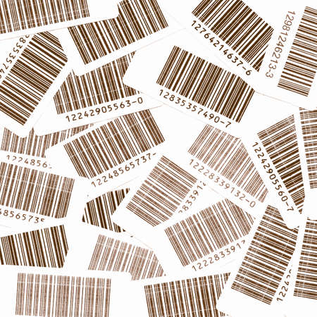 bar codes: Many bar codes over a white background vintage