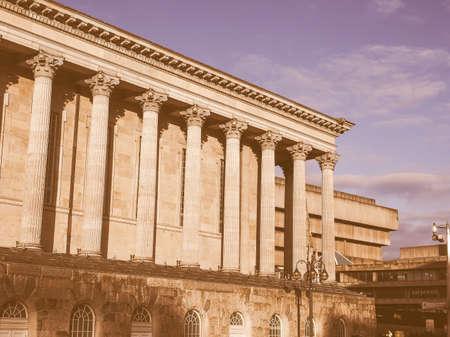 venue: Town Hall concert venue in Birmingham, UK vintage