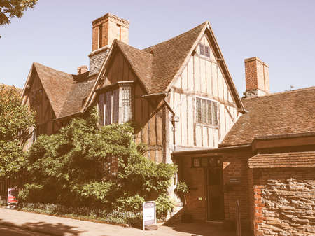 croft: STRATFORD UPON AVON, UK - SEPTEMBER 26, 2015: Halls Croft is the house of Shakespeare sister vintage Editorial