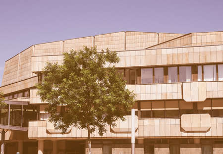 rudolph: LEIPZIG, GERMANY - JUNE 12, 2014: The Neues Gewandhaus new concert hall in Augustusplatz home of the Leipzig Gewandhaus Orchestra was designed by architect Rudolph Skoda in 1977 vintage