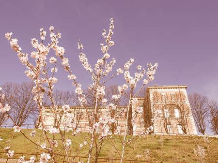 rivoli: Castello di Rivoli castle near Turin, Italy vintage