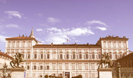 reale: Palazzo Reale (The Royal Palace) in Turin, Italy vintage
