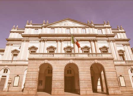 scala: Teatro alla Scala theatre in Milan, Italy vintage