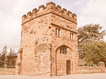 priory: Swanswell Priory Gate in the medieval fortified town walls, Coventry, UK vintage