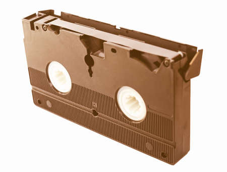 video cassette tape: Videotape magnetic tape cassette for video recording vintage