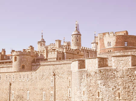 dungeons: The Tower of London medieval castle and prison vintage