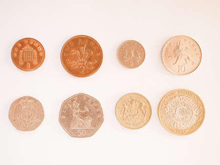 Full Series Of Pound And Pence Coins Currency Of The United Kingdom