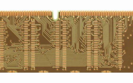 circuitry: Detail of an electronic printed circuit board vintage