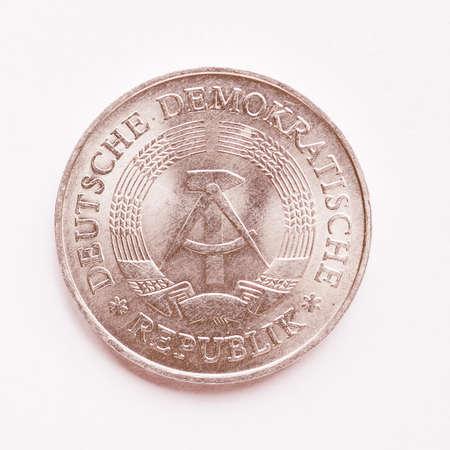 republik: Vintage DDR (German Democratic Republic) 1 mark coin vintage Stock Photo