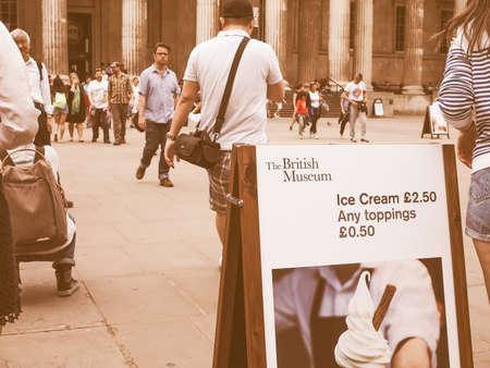 british museum: LONDON, UK - JUNE 12, 2015: The British Museum vintage
