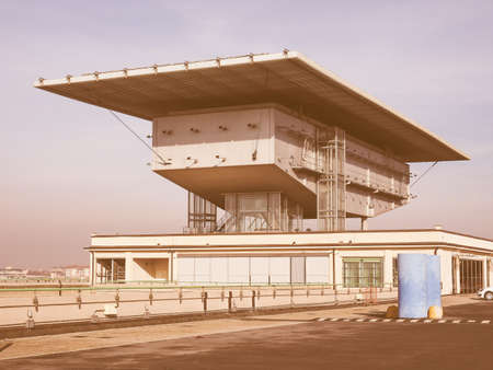 fiat: TURIN, ITALY - DECEMBER 16, 2015: Pinacoteca Agnelli art gallery designed by Renzo Piano at Lingotto former Fiat car factory vintage