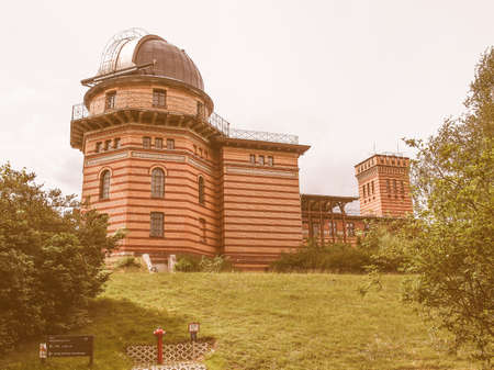 astrophysics: POTSDAM, GERMANY - MAY 10, 2014: Michelson Haus at Leibniz Institute for Astrophysics vintage