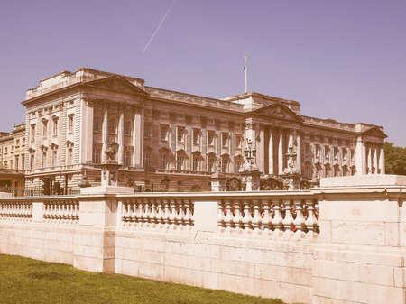 buckingham palace: LONDON, UK - JUNE 11, 2015: Buckingham Palace vintage