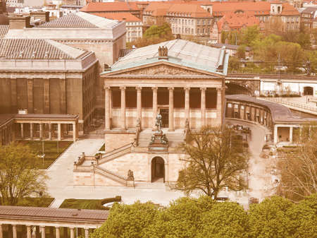 alte: The Alte Nationalgalerie museum in Berlin, Germany vintage Editorial