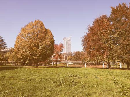 giardino: Giardino Corpo Italiano di Liberazione park in Turin, Italy vintage Stock Photo