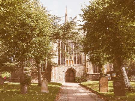 stratford upon avon: Holy Trinity church in Stratford upon Avon, UK vintage