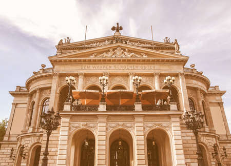 oper: Alte Oper Old Opera House in Frankfurt am Main Germany vintage