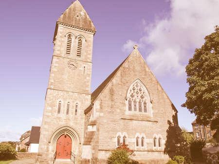 parish: Cardross parish church, near Glasgow in Scotland vintage Stock Photo