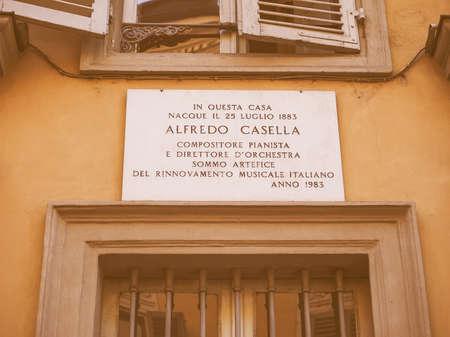 pianista: En esta casa del compositor, pianista y director musical italiano Alfredo Casella nació en 1883 de la vendimia
