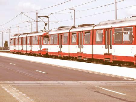 railway points: Detail of an urban transport train vintage