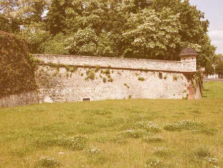 citadel: Mainz Zitadelle citadel of Mainz in Germany vintage
