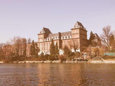 castello: Castello del Valentino baroque castle in Turin, Italy vintage Editorial
