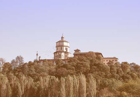 dei: Church of Monte Dei Cappuccini Turin Italy vintage