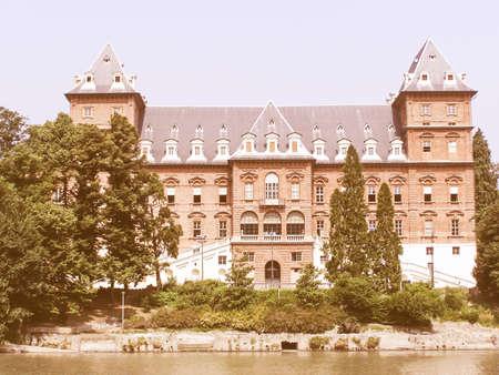 castello: Castello Del Valentino castle in Turin Italy vintage
