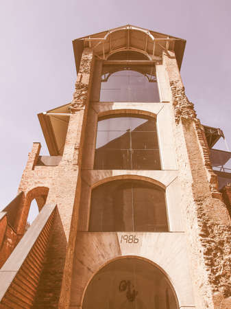 castello: Castello di Rivoli castle near Turin Italy vintage
