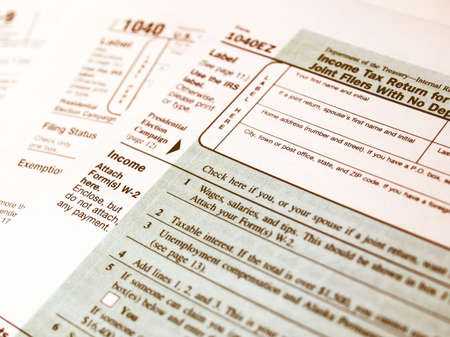 tax forms: Range of various blank USA tax forms vintage
