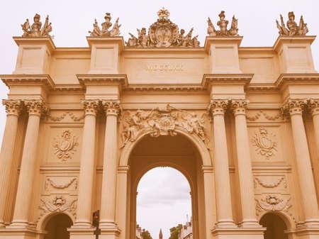 brandenburger tor: Brandenburger Tor Brandenburg Gate in Potsdam Berlin Germany vintage