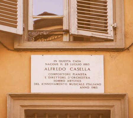 composers: In this house the Italian composer, pianist and music director Alfredo Casella was born in 1883 vintage