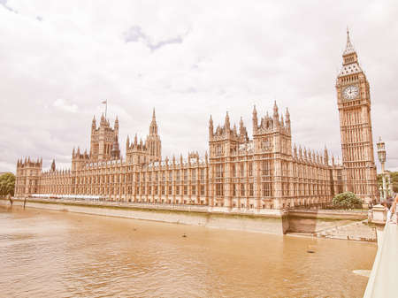 bigben: Houses of Parliament Westminster Palace London gothic architecture vintage