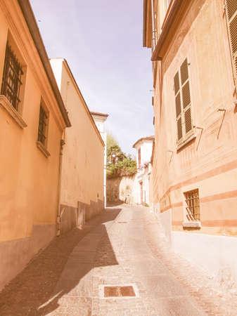 rivoli: The old town city centre in Rivoli Italy vintage