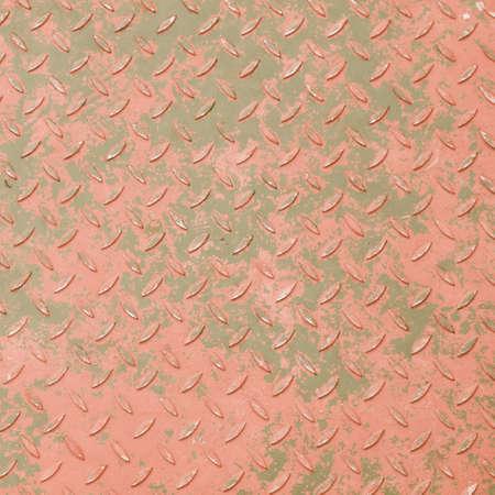 diamond background: Vintage looking Diamond steel metal sheet useful as background