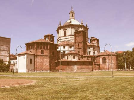 lorenzo: Basilica of San Lorenzo in Milan, Italy vintage