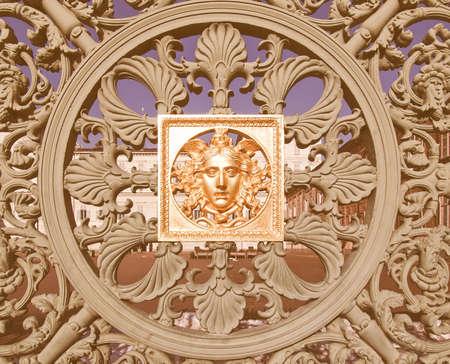 baroque: Ancient baroque golden mask