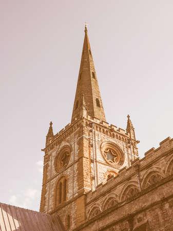 holy trinity: Holy Trinity church in Stratford upon Avon, UK vintage