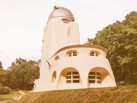 albert einstein: POTSDAM, GERMANY - MAY 10, 2014: The Einstein Turm astrophysical observatory was designed by architect Erich Mendelsohn in 1917 for Albert Einstein to validate his Relativity Theory vintage