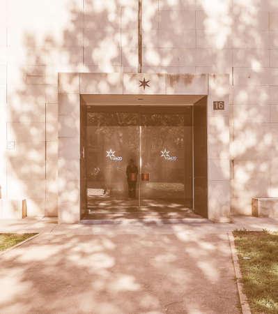re: TURIN, ITALY - NOVEMBER 07, 2015: Sandretto Re Rebaudengo art gallery designed by architect Claudio Silvestrin vintage