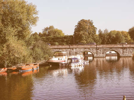 avon: River Avon in Stratford upon Avon, UK vintage